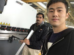Algeria Client Testing Press Brake Machine ໃນໂຮງງານຂອງພວກເຮົາ