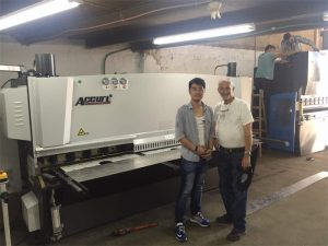 Cyprus Client Visit Visit Press Brake Machine And Shearing Machine in Our Factory